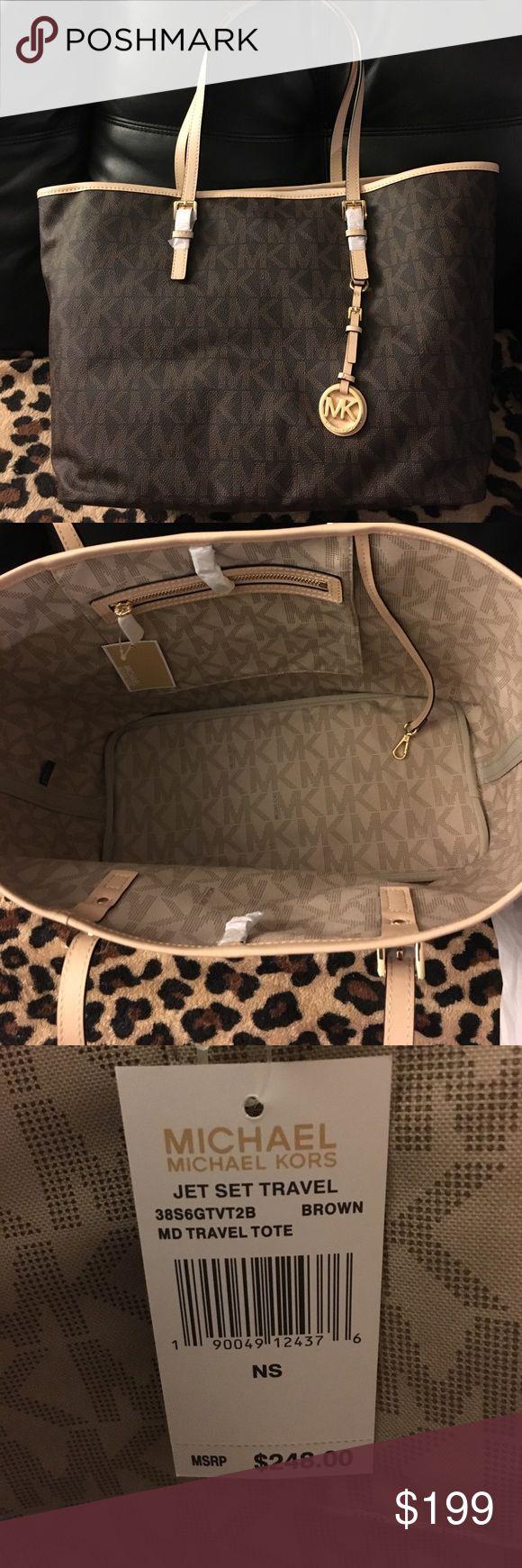 Michael Kors Large Jet Set Travel Bag Brand New with tags Michael Kors Jet Set Travel Bag! Smoke free home. Make an offer! Michael Kors Bags Travel Bags