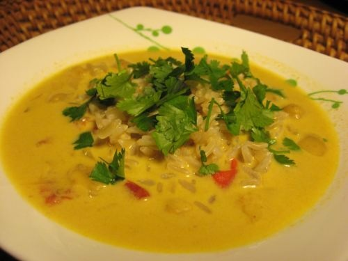 coconut curry chickpea soup