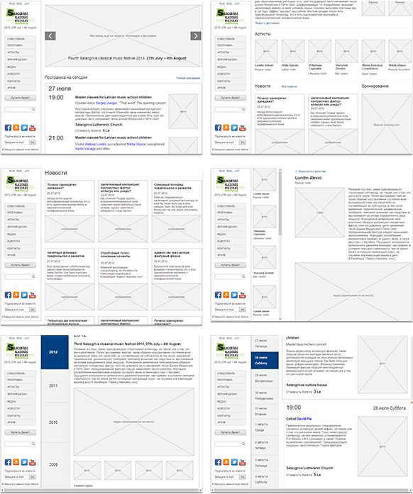 10 fresh beautiful examples of website wireframes Wireframe