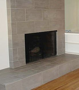 How to tile over a brick fireplace for the home - Tile over brick fireplace ...