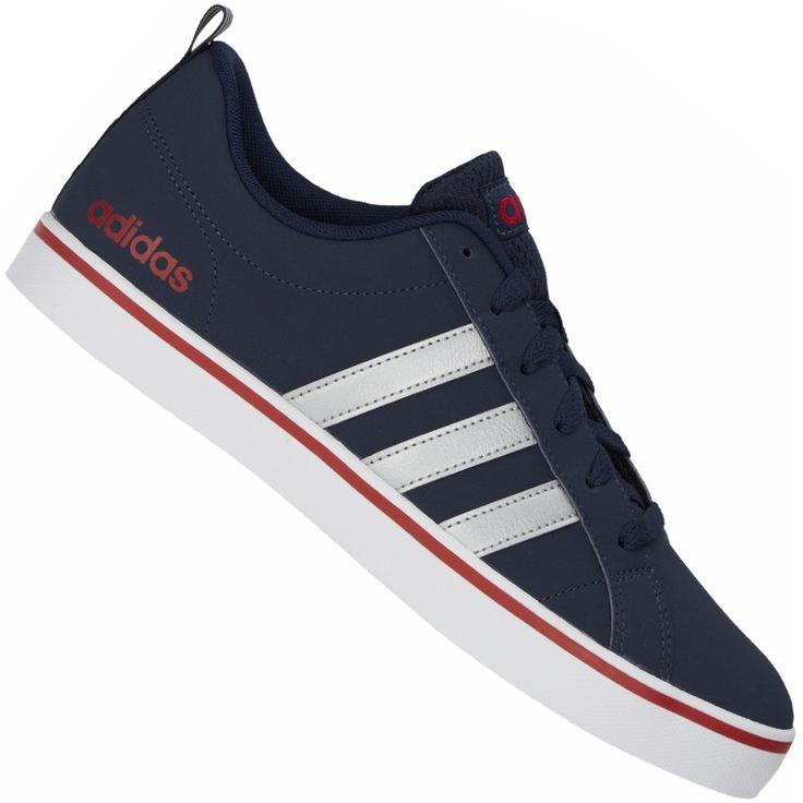 Tênis Adidas Pace VS Casual Masculino Azul Marinho / Prata / Vermelho                                                                                                                                                                                 Mais