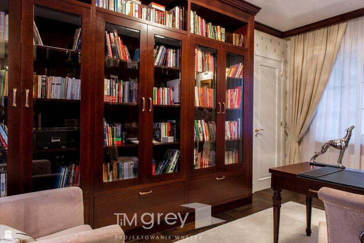 Gabinet styl Klasyczny - zdjęcie od TiM Grey Projektowanie Wnętrz - Gabinet - Styl Klasyczny - TiM Grey Projektowanie Wnętrz