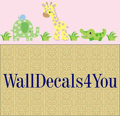 Wall D cor 37633: Baby Girl S Room Wall Decals - Alligator - Giraffe - Nursery Wall Decals - Print -> BUY IT NOW ONLY: $144.95 on eBay!