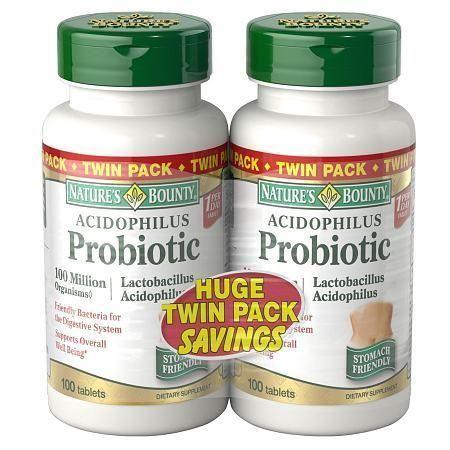 Nature's Bounty Acidophilus Probiotic Tablets 2 pk - 100 ea
