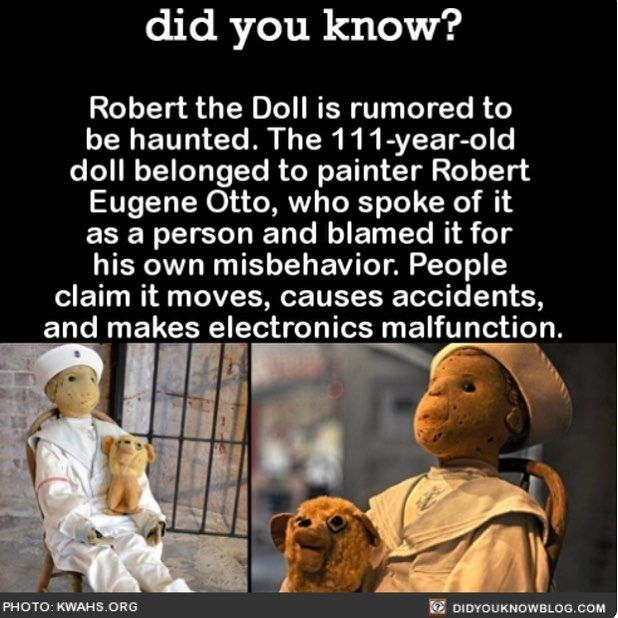 Ok...so that's creepy... if you are really young and believe in this stuff (not me) you may get nightmares
