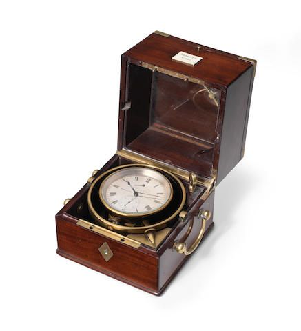A mid 19th century French two day marine chronometer Breguet, No.841