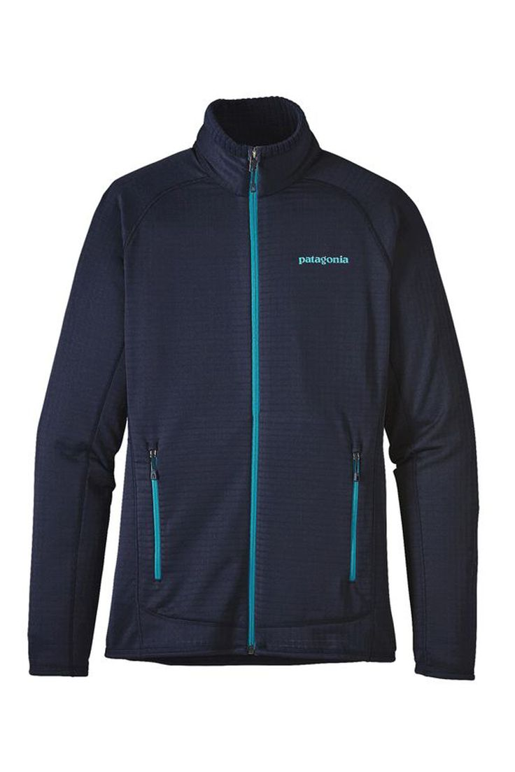 The classic 2017 Patagonia Women's R1 Full Zip Midlayer Fleece Jacket Ski Casualwear is a versatile midlayer for days on the mountain and everything in between—now a lighter and more breathable fleece made from Polartec® Power Grid™ fabric (with Polygiene® permanent odor control) with the same outstanding stretch and durability.
