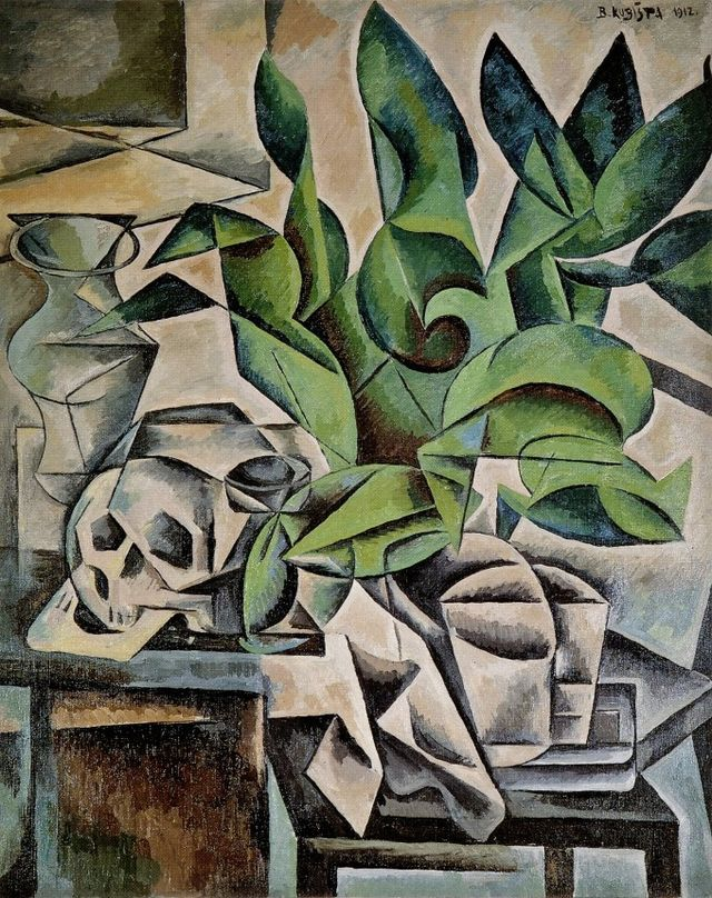 Still Life with Skull, Bohemia (modern Czech Republic), 1912, by Bohumil Kubišta.