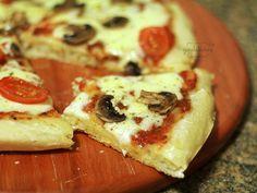 Pizza Caseira. Receita completa em http://gordelicias.biz.