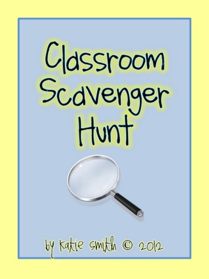Rather than a scavenger hunt a trivia questionairre about high school teachers, classrooms, ball games, State Champs, etc.