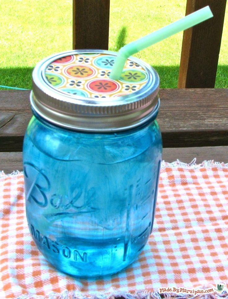 water proof dyed mason jars