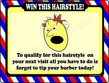 BARBER SHOP SIGN -WIN THIS HAIR -  BARBER SUPPLIES, BARBER CHAIR, SALON SUPPLIES