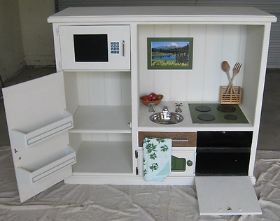 Wooden Upcycled Childrens Kitchen | eBay
