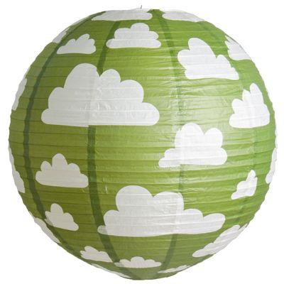 Färg & form, Moln, Riisi valaisin, 50 cm, Vihreä netistä. Lekmer.fi - verkkokaupasta