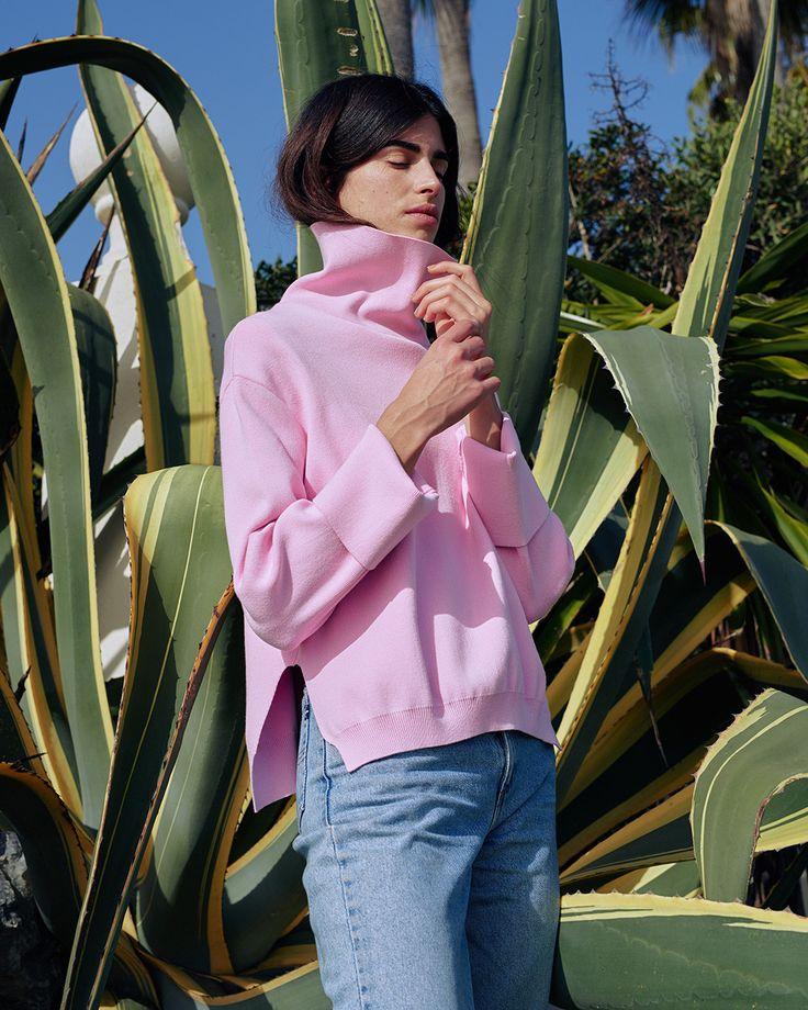 #Nanushka LUMIX Knit Sweater, Pink