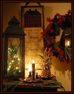candlelight Christmas: Christmas Time, Prim Christmas, Primitive Christmas, Christmas Lanterns, Country Christmas, Candlelight Christmas, Christmas Decor, Merry Christmas, Christmastime