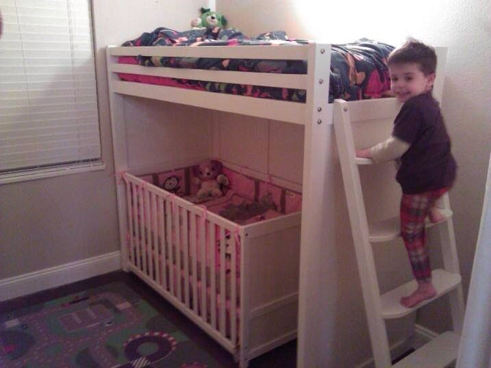 Toddler/crib bunk bed