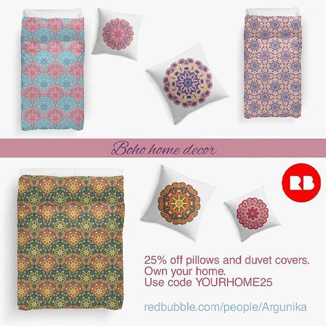 25% off pillows and duvet covers. Own your home. Use code YOURHOME25  redbubble.com/people/argunika  #Argunika #redbubble #redbubblecreate #RedbubbleArtist #surfacedesign #surface #home #decor #homedecor #duvet #mandala #boho #bohemian #hippie #bohochic #colorful #sale #pillow #abstract #zen #cover #interiordesign #дизайнерпринтов #бохо #хиппи #принт
