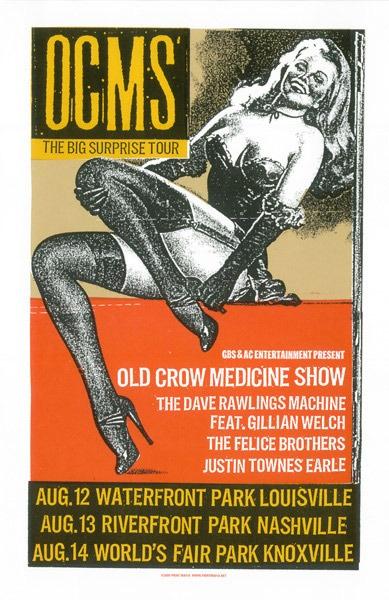 Old Crow Medicine Show by Print Mafia
