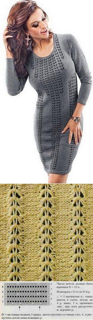 Узор для платья спицами