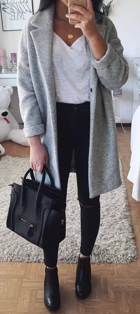 fall+fashion+trends+|+grey+coat+++white+top+++bag+++skinnies+++boots