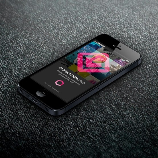 Norwegian designer Bendik Skotland Hansen created his own concept of what the Inspiration Grid mobile app would look like.