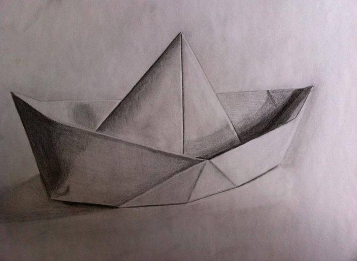 Pencil drawing boat www.inesreder.com