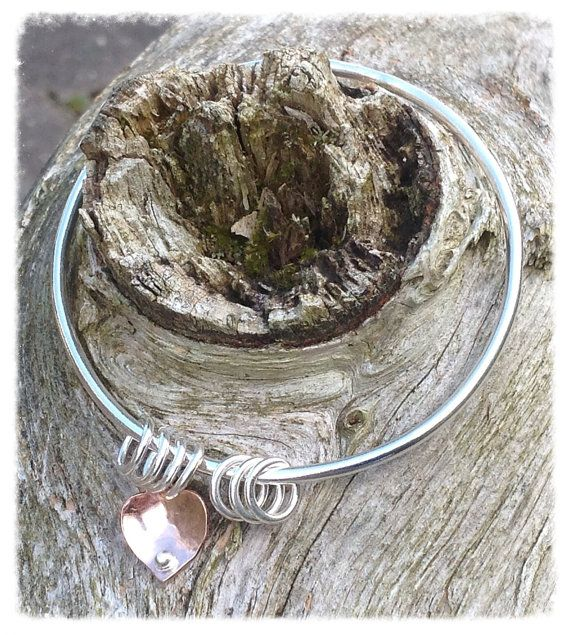 Sterling silver and recycled silver bangle  mixed by HENjewellery, €50.00
