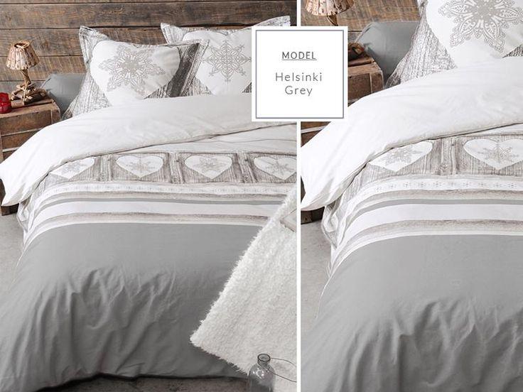 Jasnoszara nowoczesna pościel do sypialni w gwiazdki