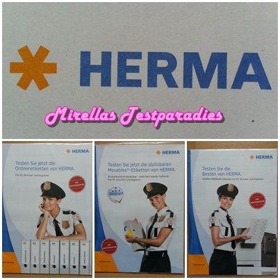 Ich bestellte mir von dem Etiketten-Spezialist HERMA auch ein Test-Set.