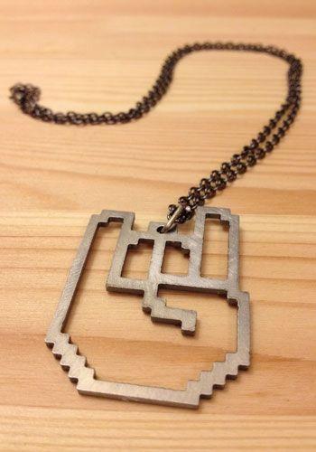 8-Bit Rockhart Logo Necklace ($12) #RockOn