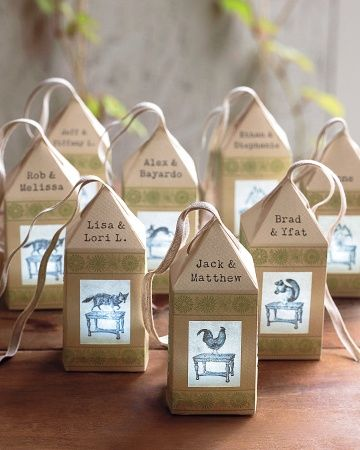 These paper lantern escort cards actually light up! Click for the details