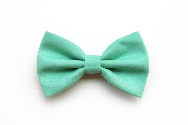 Papillon verde menta, per uomo, matrimonio, cotone