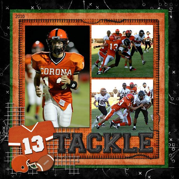 FOOTBALL  - Scrapbook.com I did a basketball one like  this so cool
