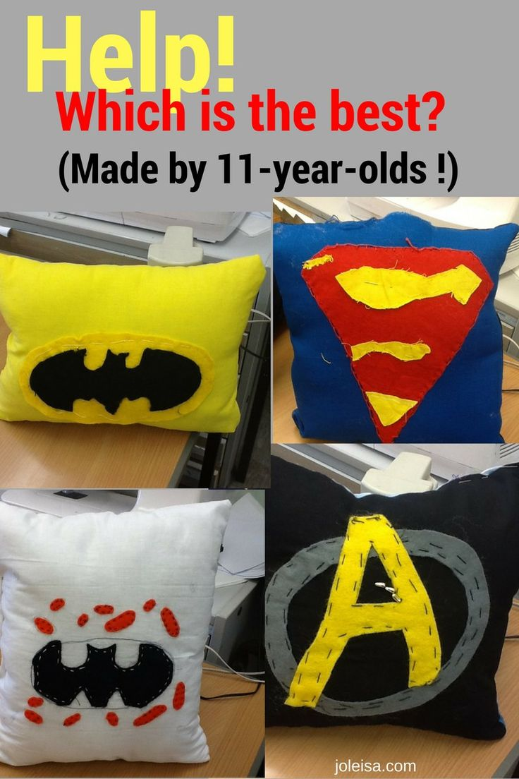 Which is the best home (school) made cushion?