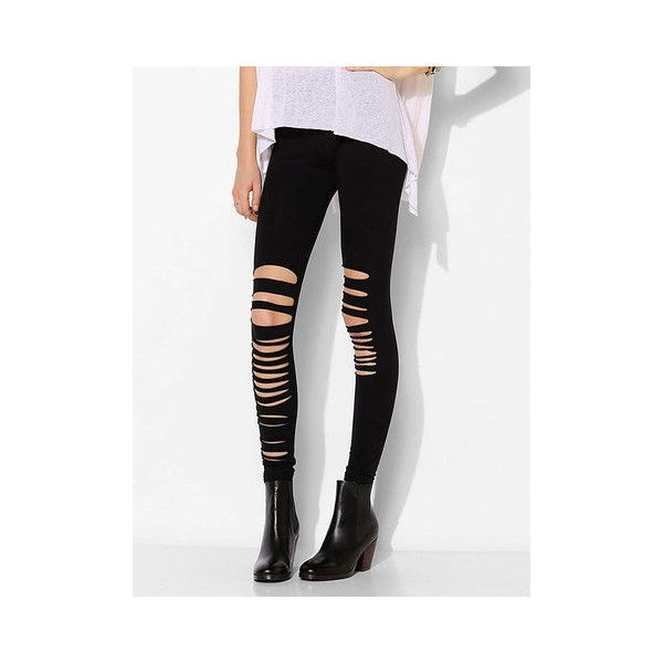 Sexy Slim Women Asymmetric Hollow Out Pencil Leggings (160 HRK) ❤ liked on Polyvore featuring pants, leggings, sexy white leggings, white trousers, white legging pants, ankle length leggings and ankle length pants