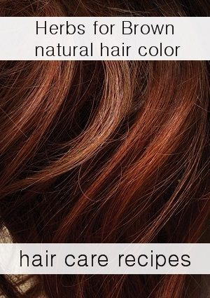 How to color your hair naturally brown at home with herbs: 4 simple recipes anyone can do
