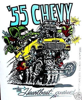 Rat fink 1955 #chevy decal #chevrolet car #sticker hot rod street drag racing ,  View more on the LINK: http://www.zeppy.io/product/gb/2/361417365881/