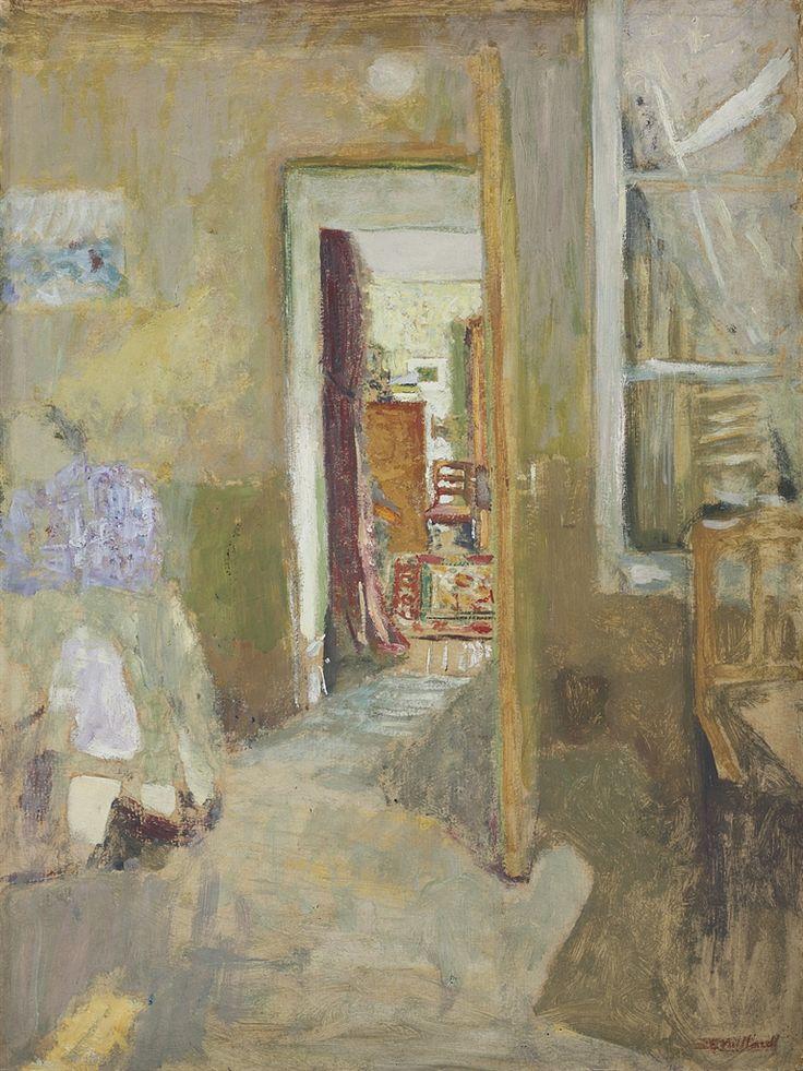 Edouard Vuillard (French, 1868-1940), La porte ouverte [The open door], c.1902-03. Oil on cardboard, 53.5 x 40 cm.