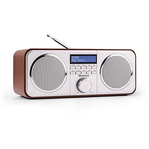 Auna Georgia - Radio numérique au style élégant avec tuner DAB, DAB+ et FM (10 plages mémoire par tuner, entrée AUX, fonction réveil) - design bois marron Auna http://www.amazon.fr/dp/B00P2HYL0G/ref=cm_sw_r_pi_dp_VYOPvb13ACANY