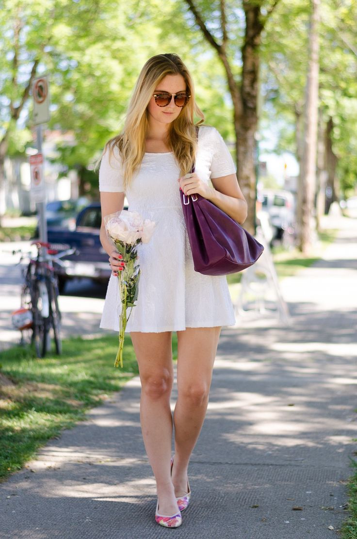 little white sundress #summerstyle #fashion #outfit