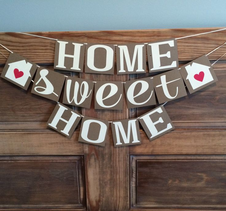 Home Sweet Home Banner Housewarming Party Banner By