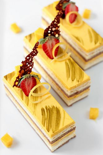 Chocolate Coconut & Mango Entremet Recipe by tartelette #sweet #yummy