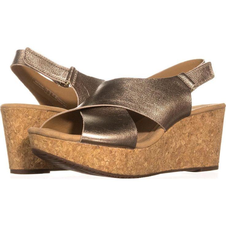 Clarks Annadel Eirwyn Comfort Wedge Sandals    #clarks #clarksforwomen #sandals #wedgesandals #wedges #comfort #shoes #fashion #shopping #style #trend #love