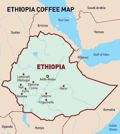 #coffee #map Ethiopia - Cofi-Com