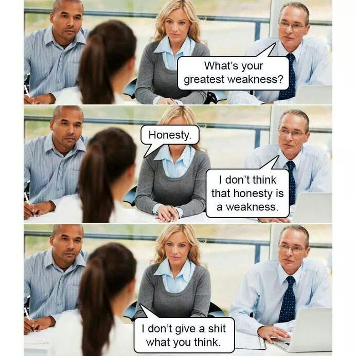 honestythe best policy lol pinterest humor - What To Say In An Interview What Not To Say In An Interview