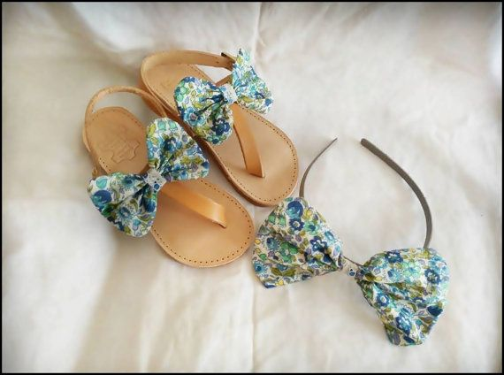 kids sandals,  bow, hair band, girls shoes.