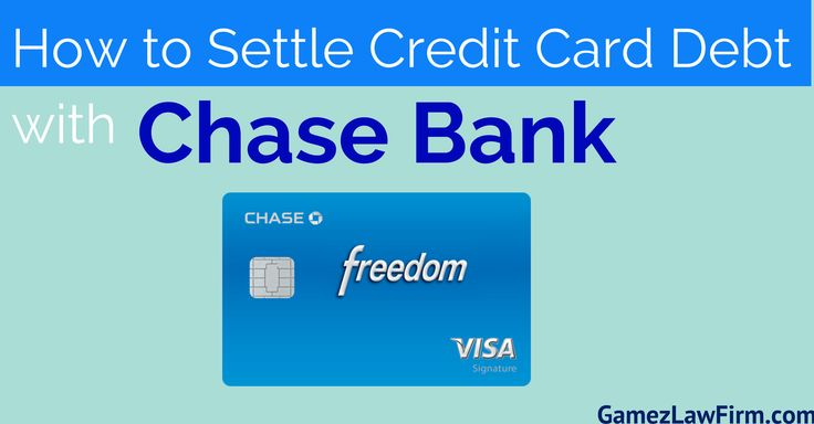 How To Settle Credit Card Debt With Chase Bank. For a FREE credit card debt consultation visit http://www.gamezlawfirm.com/credit-card-debt/