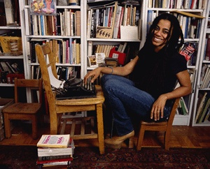 A contemporary playwright in her natural habitat.  Suzan-Lori Parks