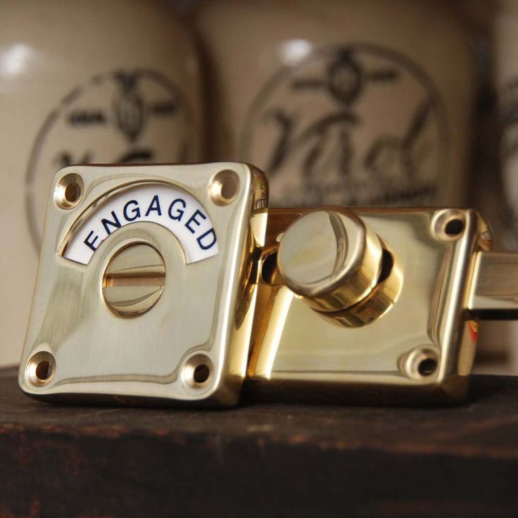 Brass Vacant Engaged Locks are some of our all time best sellers because they are characterful and unique and make going to the loo a little bit more interesting!